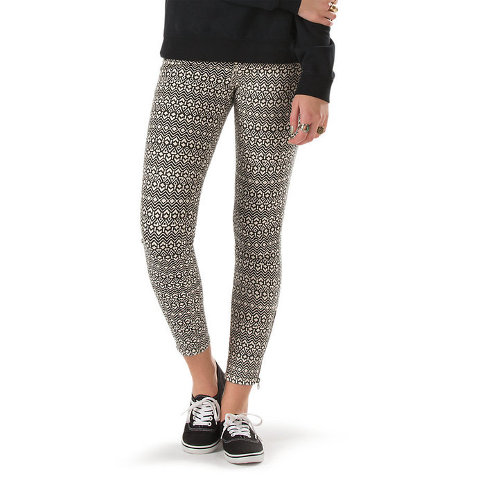 kalhoty dámské VANS - Moto Skinny Denim - Creme