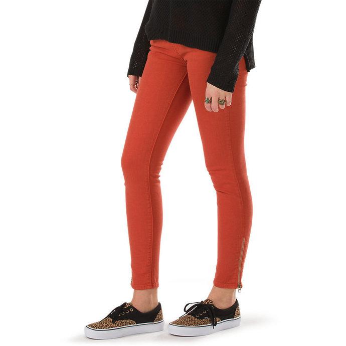 kalhoty dámské VANS - Moto Skinny Denim - Ketchup