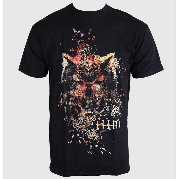 tričko pánské - HIM Owl Colour - Black - ROCK OFF