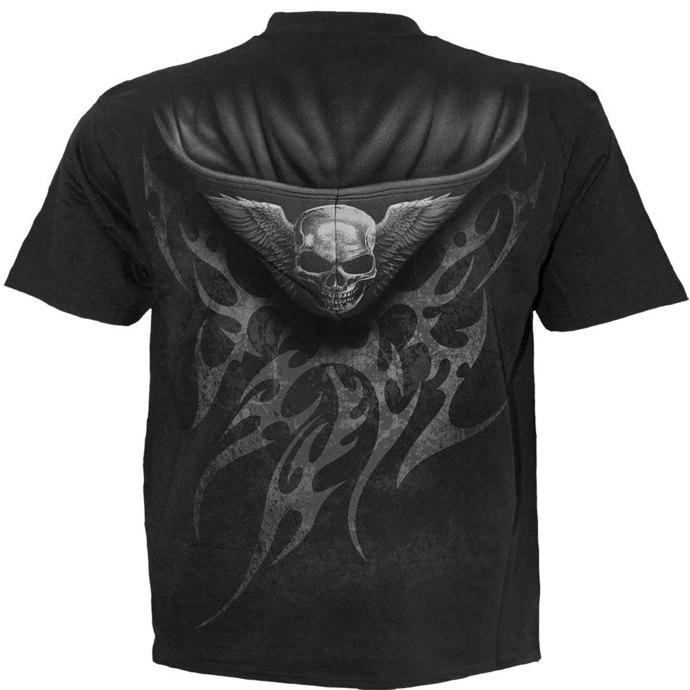 tričko pánské SPIRAL - UNZIPPED - BLK