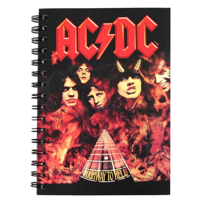 poznámkový blok AC/DC