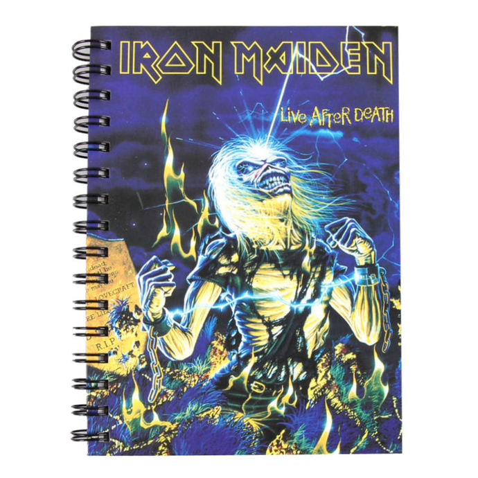 poznámkový blok Iron Maiden