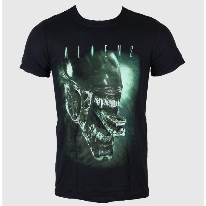 tričko pánské Aliens - Alien Head - LIVE NATION -  Black