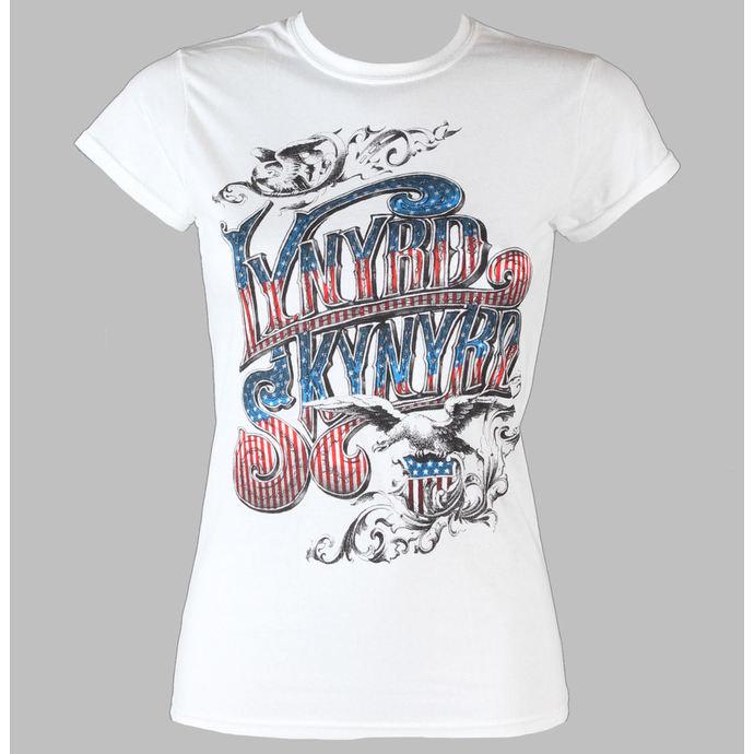 tričko dámské Lynyrd  Skynyrd - Usa Flag Logo - LIVE NATION - White