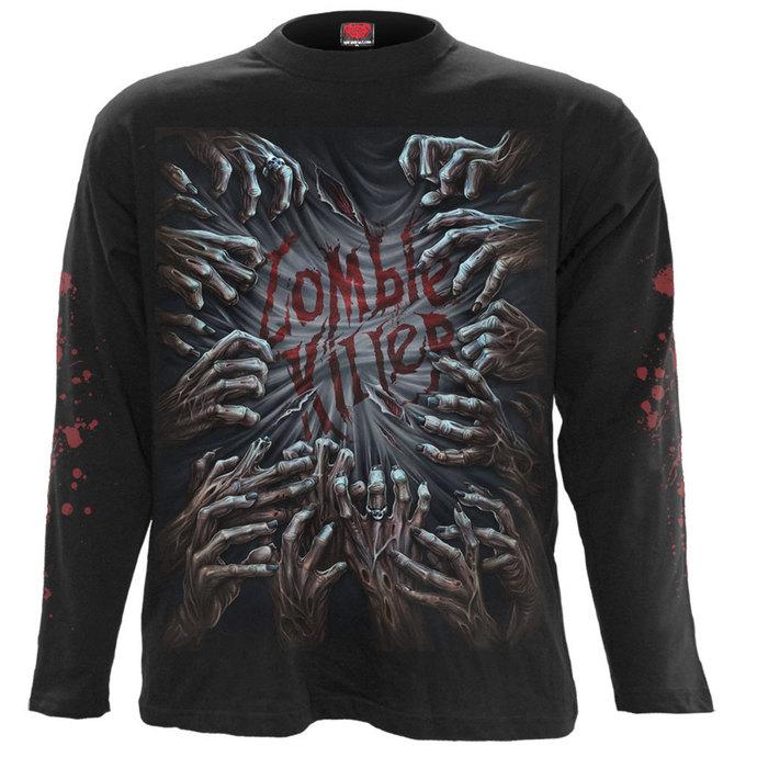 tričko pánské s dlouhým rukávem SPIRAL - ZOMBIE KILLER - BLK
