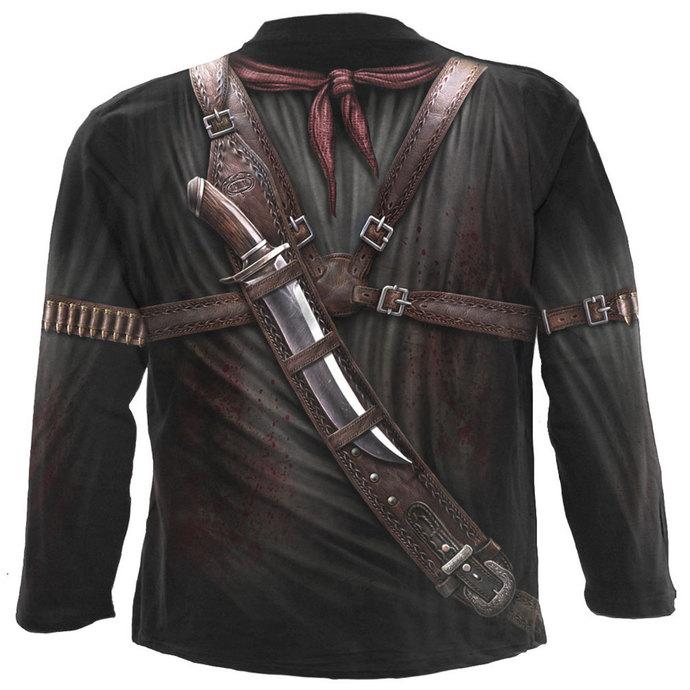 tričko pánské s dlouhým rukávem SPIRAL - HOLSTER WRAP - BLK