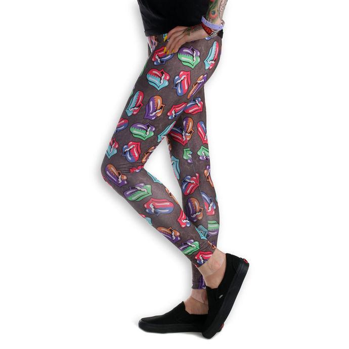 kalhoty dámské (legíny) Rolling Stones - Zig Zag - AMPLIFIED - Charcoal