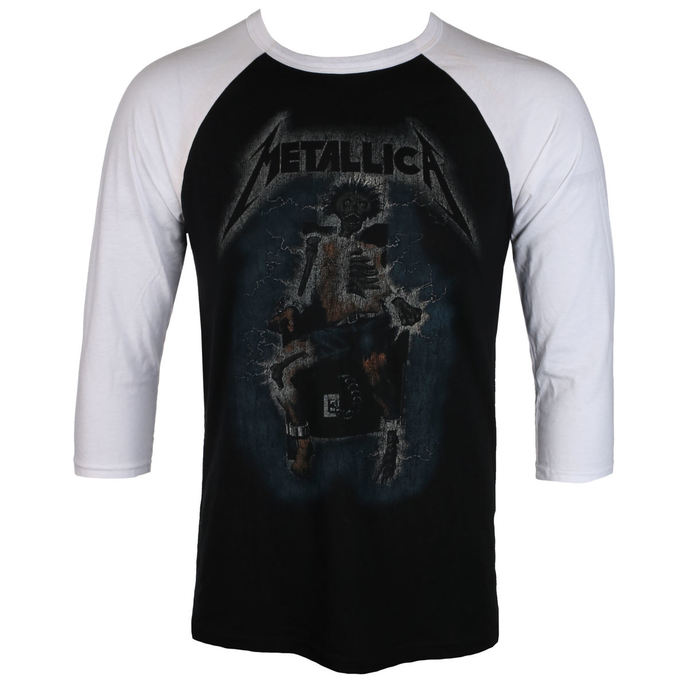 tričko pánské METALLICA - ELECTRIC CHAIR Baseball - BLACK