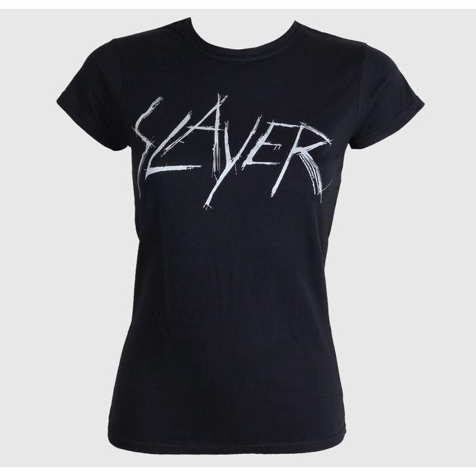 tričko dámské Slayer - Scratchy Logo - ROCK OFF