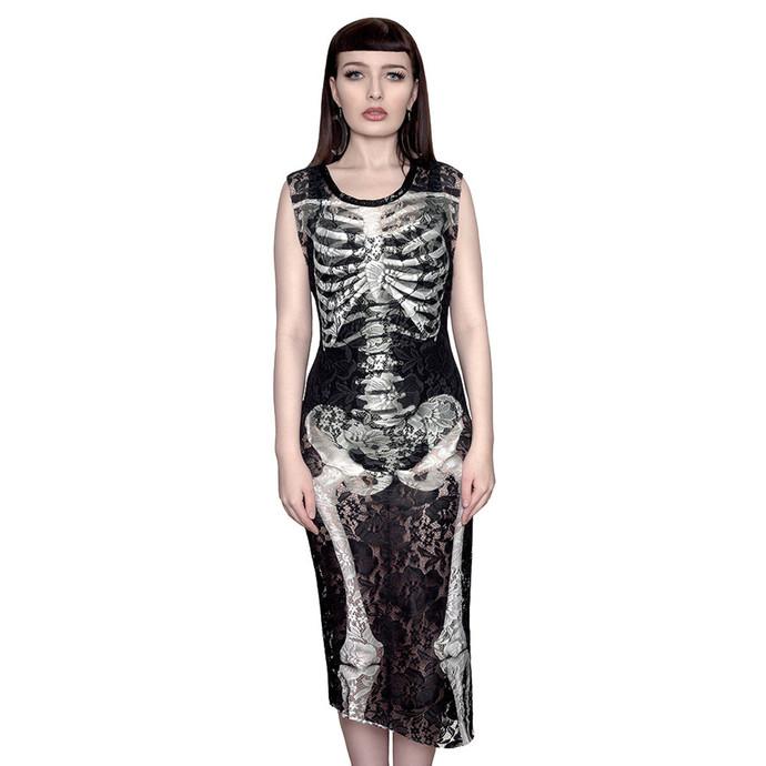 šaty dámské KILLSTAR - Skeletor Lace Maxi