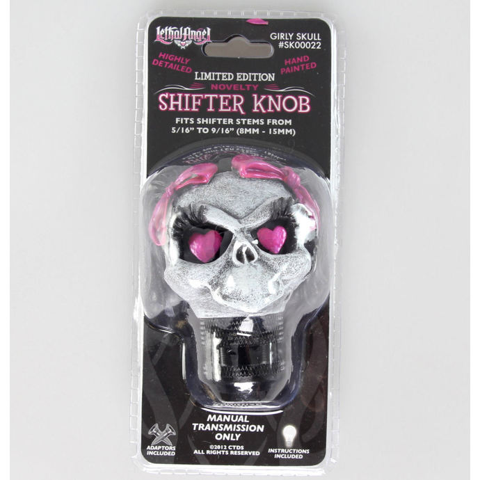 dekorace (hlavice řadící páky) LETHAL THREAT - Girl Skull Shift Knob