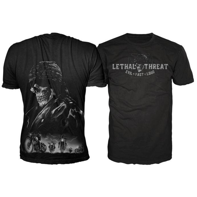 tričko pánské LETHAL THREAT - Biker From Hell - Black
