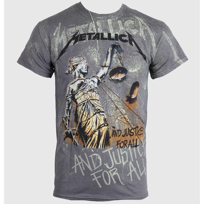 tričko pánské Metallica - Justice Neon All - Over Premium