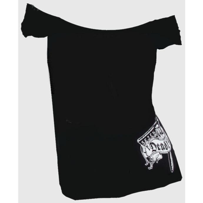 tričko dámské SE7EN DEADLY - Hells Bidding OffShoulder