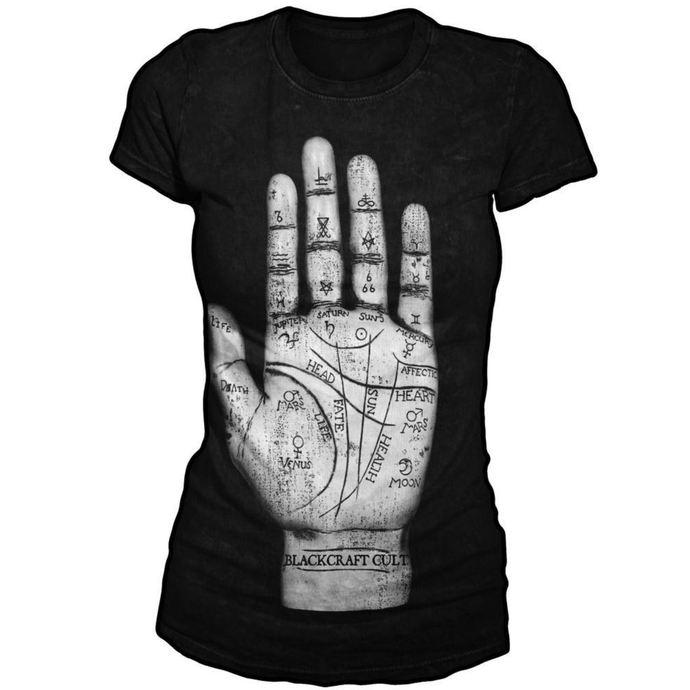 tričko dámské BLACK CRAFT - Palm Reader - Black
