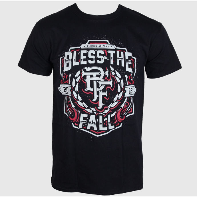 tričko pánské  Bless The Fall - Crest - Black - LIVE NATION