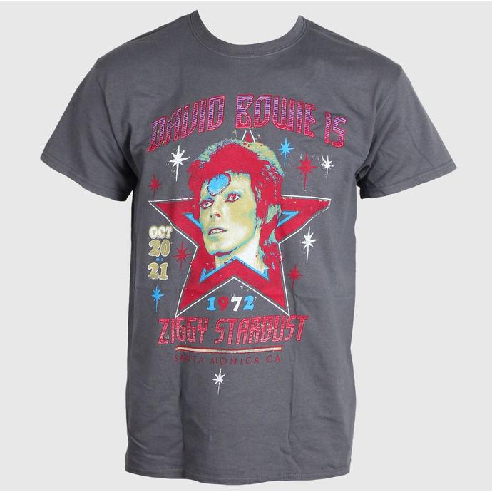 tričko pánské David Bowie - Santa Monica - Charcoal - LIVE NATION
