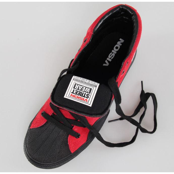 boty pánské VISION - Suede HI - Red/Black