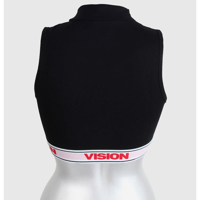 tílko dámské VISION - Crop Turtleneck - Black