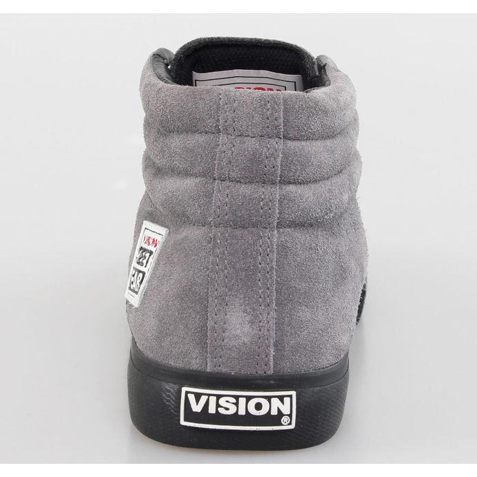 boty pánské VISION - Suede HI - Charcoal/Black