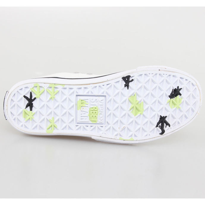 boty dámské VISION - Canvas HI - White/Safety Yellow