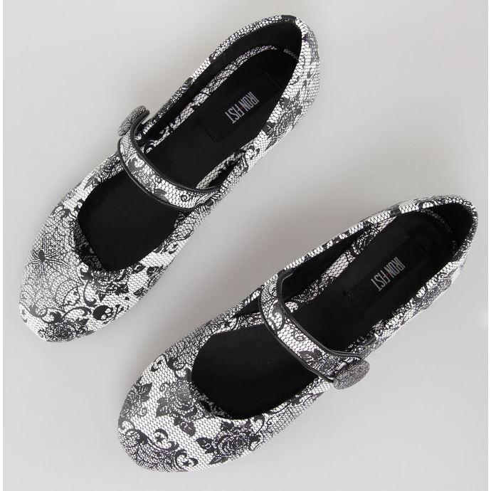 boty dámské (baleríny) IRON FIST - Midnight Widow - White