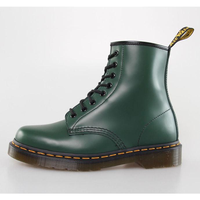boty DR. MARTENS - 8 dírkové - 1460 - GREEN SMOOTH