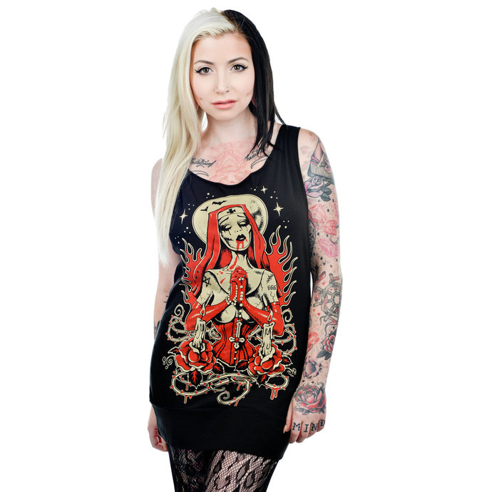 tílko dámské (top) TOO FAST - Faith Tunic - Zombie Nun
