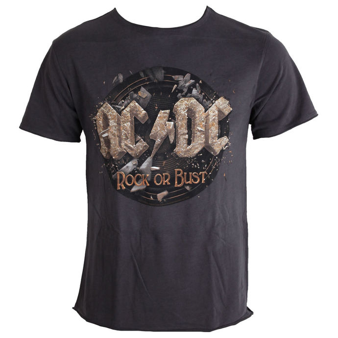 tričko pánské AC/DC - Rock Or Bust Tour - Charcoal - AMPLIFIED