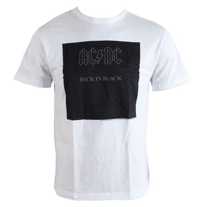 tričko pánské AC/DC - Back In Black - White - AMPLIFIED