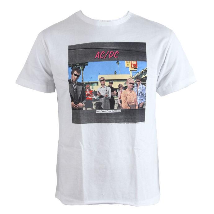 tričko pánské AC/DC - Dirty Deeds - White - AMPLIFIED