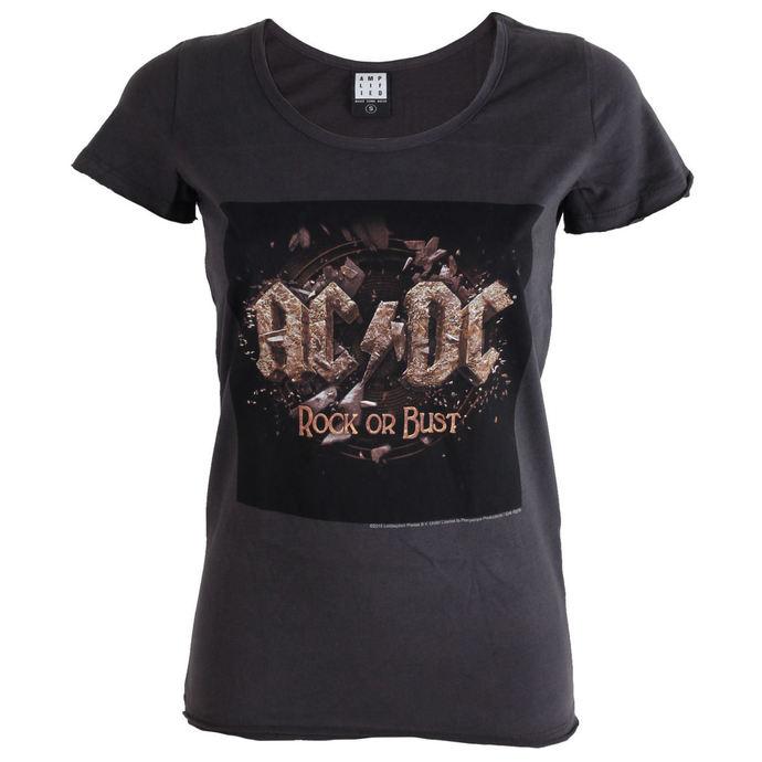 tričko dámské AC/DC - Rock Or Bust Tour - Charcoal - AMPLIFIED