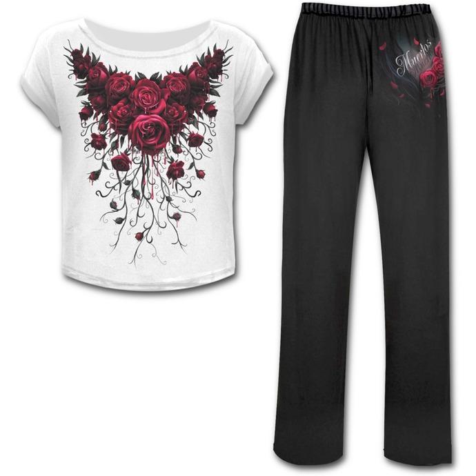 komplet na spaní dámský (pyžamo) SPIRAL - Blood Rose