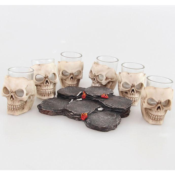 panáky (sada) Skulls