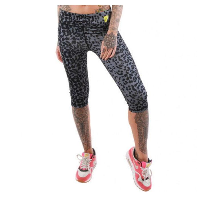 kalhoty dámské 3/4 (legíny) IRON FIST - Seeing Spots - Black