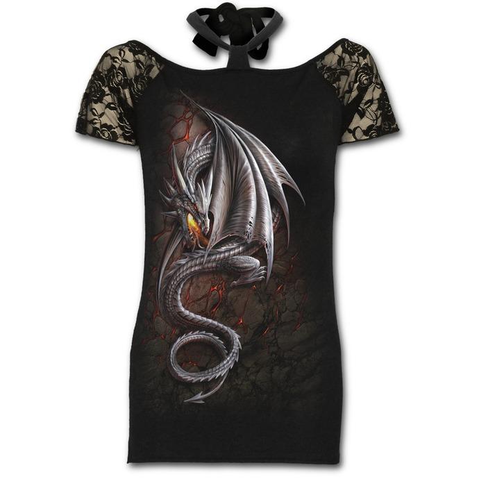 tričko dámské SPIRAL - Obsidian