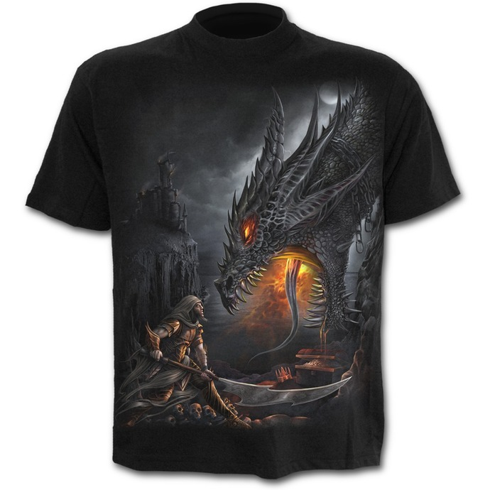 tričko pánské SPIRAL - Dragon Slayer - Black