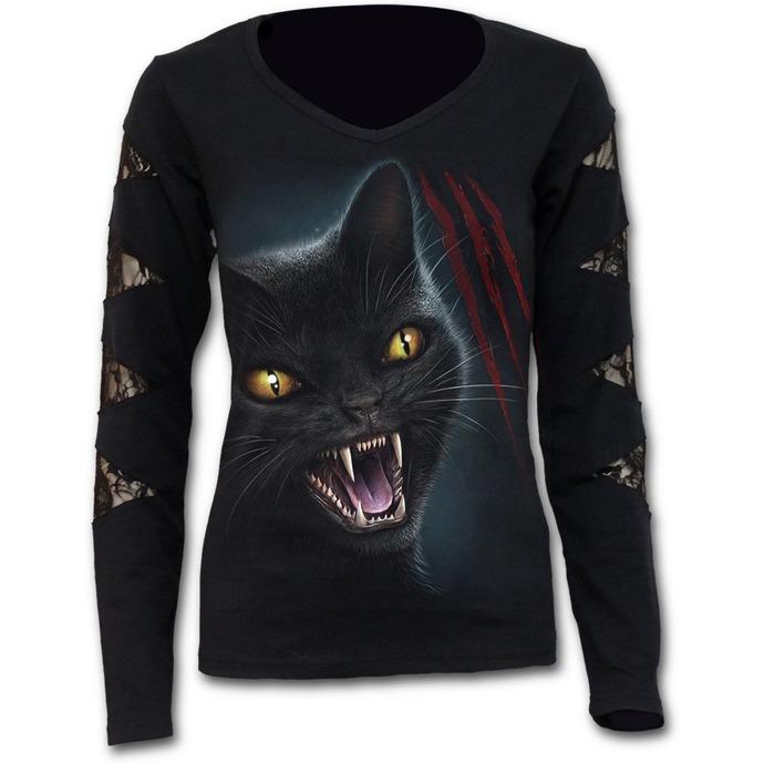 tričko dámské s dlouhým rukávem SPIRAL - Feline Fury