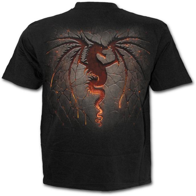 tričko pánské SPIRAL - Dragon Furnace - Black