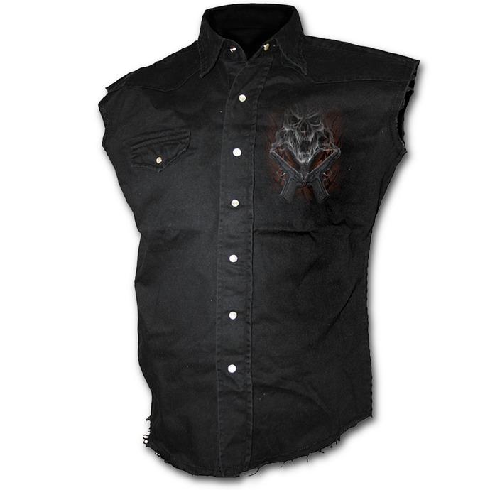 košile pánská bez rukávů SPIRAL - Street Reaper - Black
