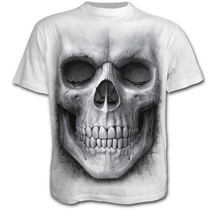 tričko pánské SPIRAL - Solemin Skull - White