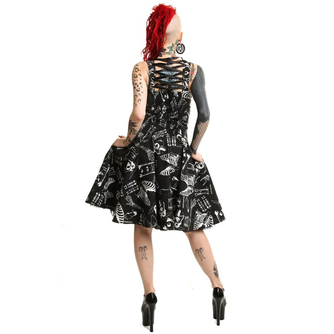 šaty dámské POIZEN INDUSTRIES - Anatomy - Black/White