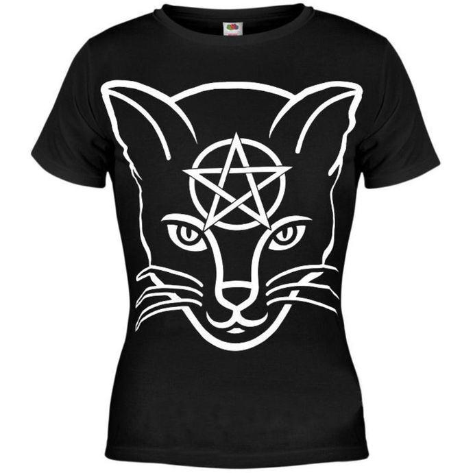 tričko dámské AMENOMEN - Head Cat - BLK
