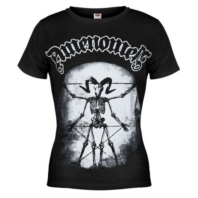 tričko dámské AMENOMEN - Skeleton Da Vici - BLK