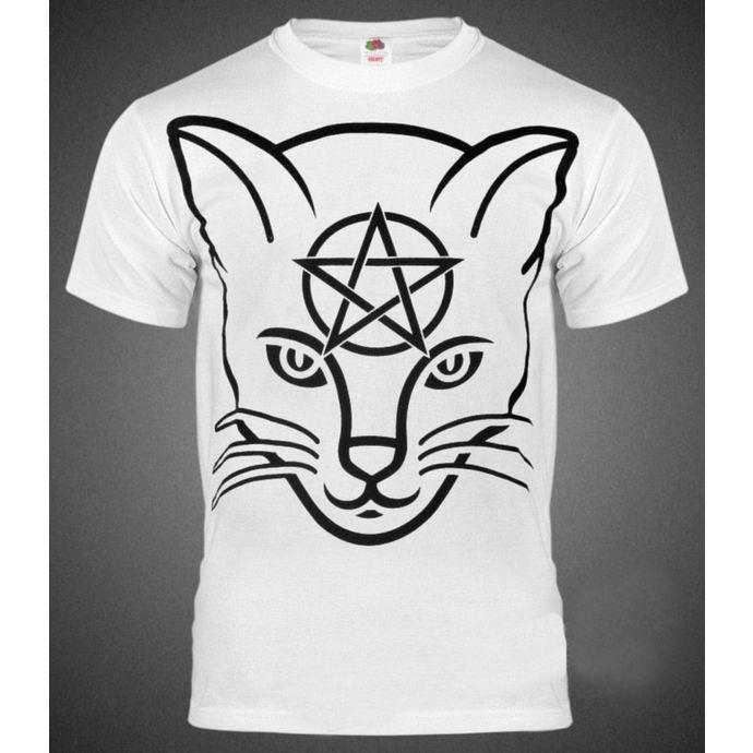 tričko pánské AMENOMEN - Head Cat - WHT