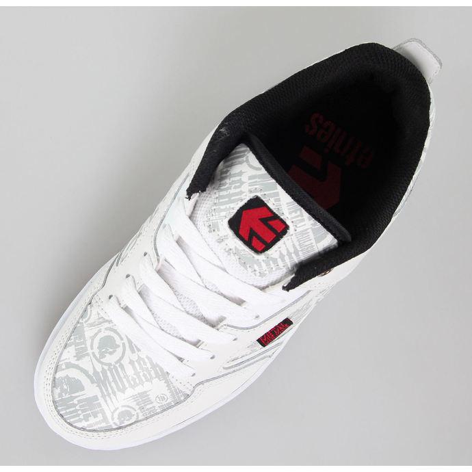 boty pánské ETNIES - Metal Mulisha - Cartel - White/Black/Red