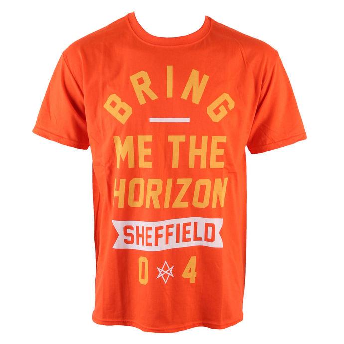tričko pánské Bring Me The Horizon - Big Text - Orange - ROCK OFF