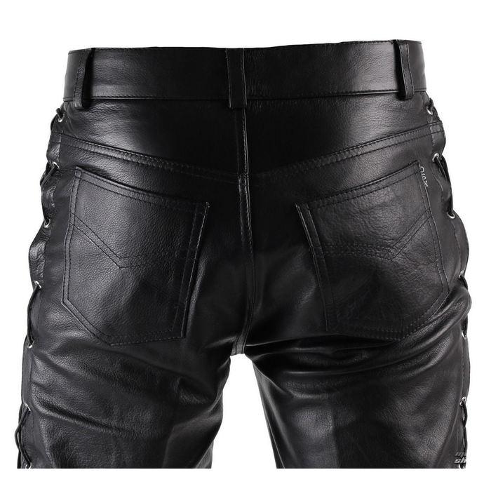 kalhoty pánské kožené OSX - Out-Law - Black