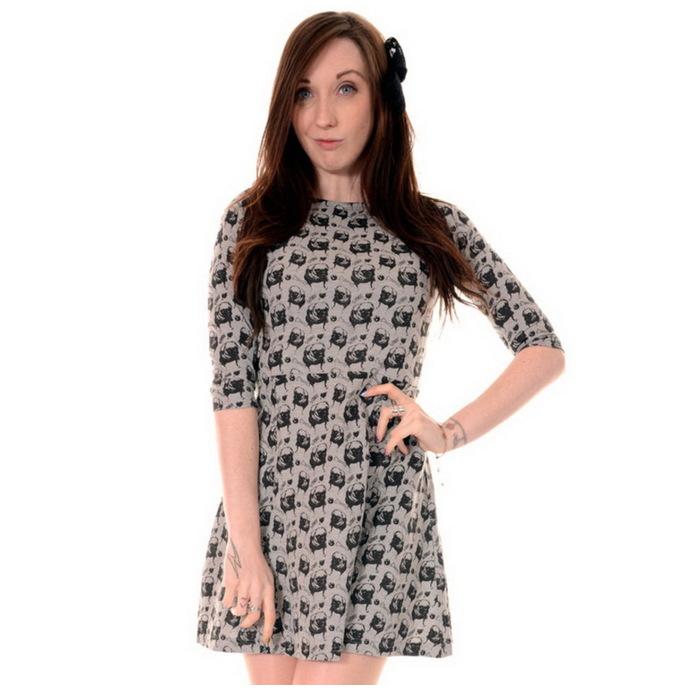 šaty dámské 3RDAND56th - Pug Face - Green/Melange