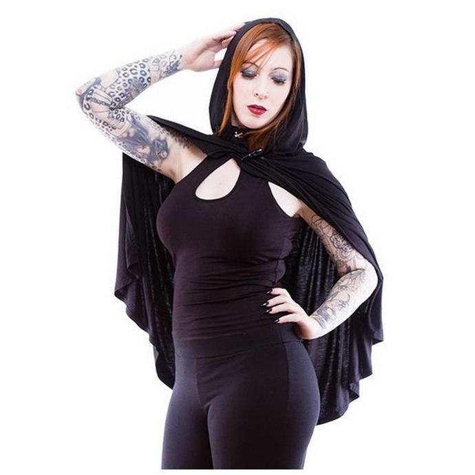 mikina (přehoz) dámská NECESSARY EVIL - Gothic Dunne - Black